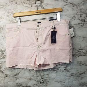 Gap Womens High RISE Shorts Pink 3' Sz 33 New